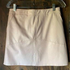 Dresses & Skirts - Light pink leather skirt - New